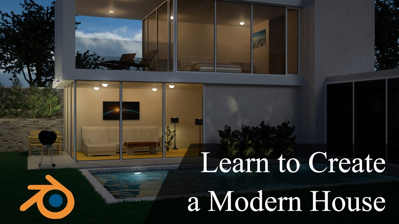 Create & Design A Modern 3D House In Blender