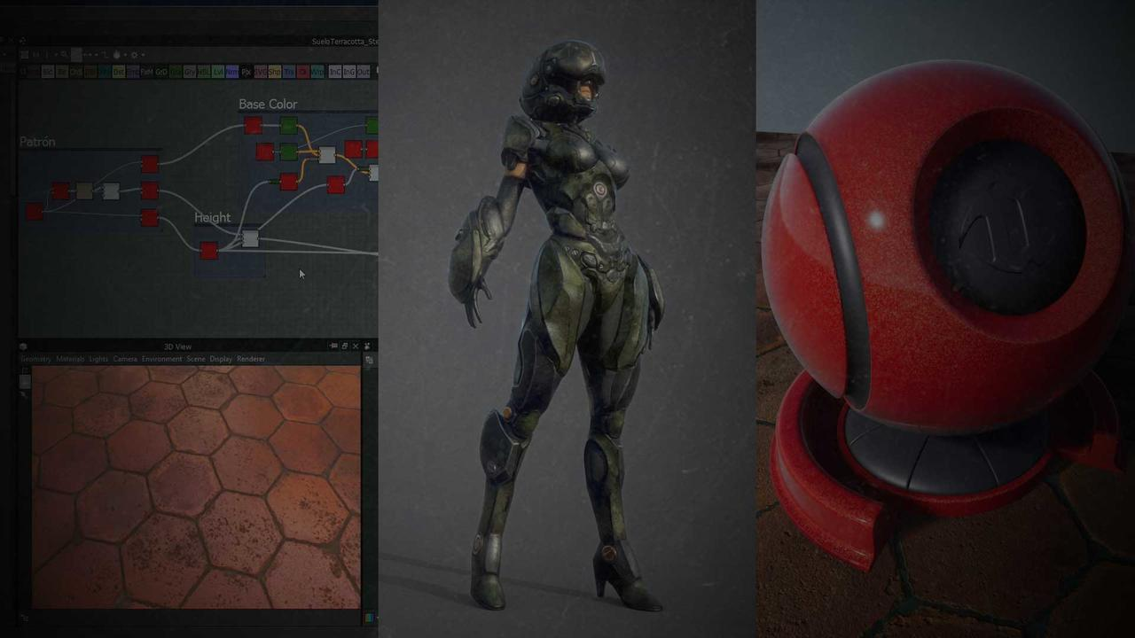 Pack Shading y Texturizado (Substance Designer 2018 + Substance Painter 2018 + Materiales en Unreal Engine 4)