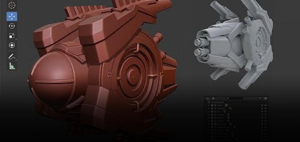 Experto en Modelado de Assets 3D HARD SURFACE y Blender 2.8