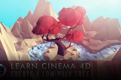Learn Cinema 4D: Low Poly Tree