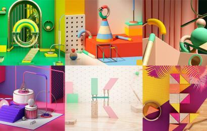 Composiciones abstractas con Cinema 4D