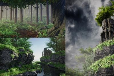 Blender 2.79 Nature environment creation