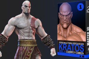 , Master 3D, Crea a Kratos Vol 1 –  Cabeza y Cuerpo, Factor3D, Factor3D