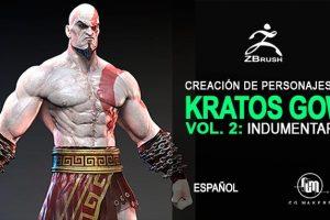 , Creación de Kratos con Zbrush Vol 2 – Indumentaria de Kratos, Factor3D, Factor3D