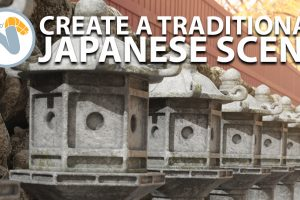 , Create a traditional japanese scene in Modo, Factor3D, Factor3D