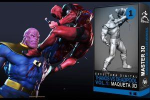 escultura digital de personajes Marvel