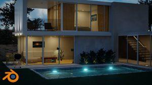 , Create & Design a Modern 3D House in Blender, Factor3D