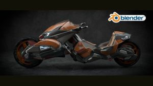, Diseño de una motocicleta de ciencia ficción con Blender (II), Factor3D