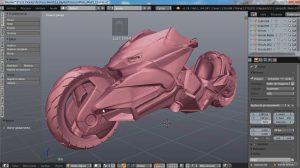 , GRATUITO | Diseño de una motocicleta de ciencia ficción con Blender, Factor3D