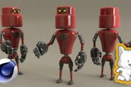 Cinema4D for character modeling: Create your own robot
