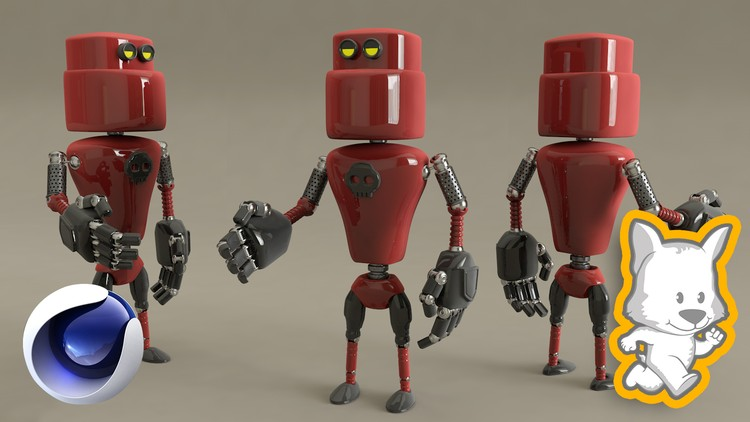 cinema4d, Cinema4D for character modeling: Create your own robot, Factor3D