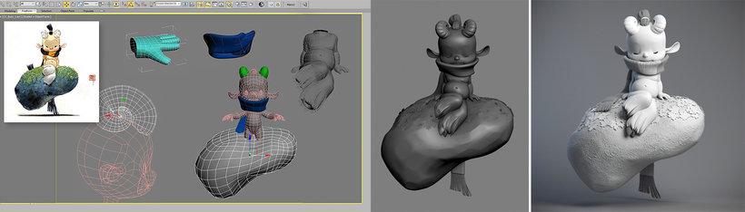 escultura personajes zbrush 3dsmax