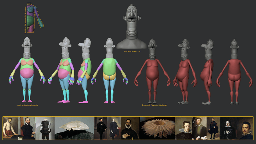 modelado de personajes en zbrush