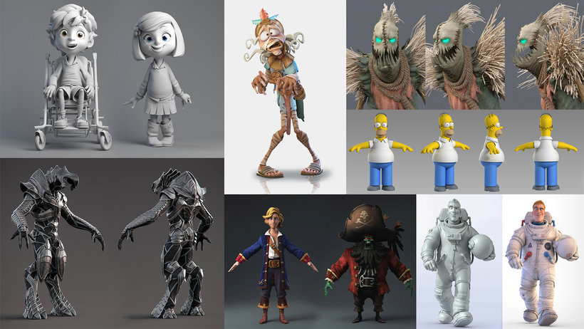 modelado personajes zbrush