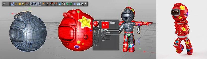 modelar un robot en 3d