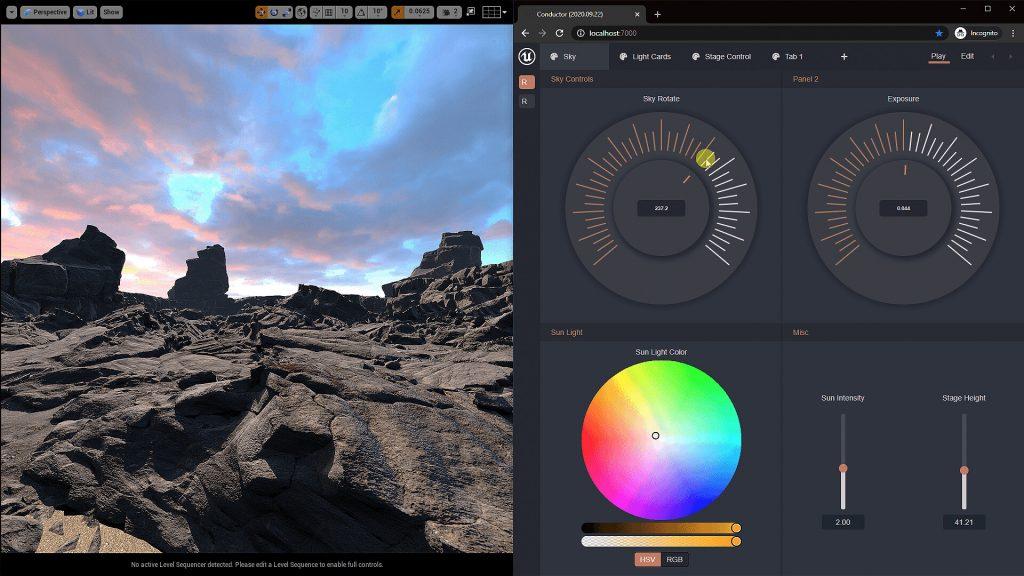 unreal engine 4.26 herramientas api broadcast