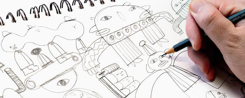 boceto personajes animacion