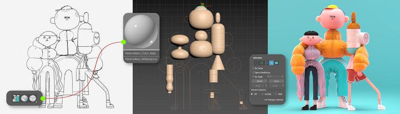 modelado nodos 3d 3dsmax